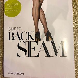 ⬇️BOGO⬇️ {D} Nordstrom Sheer Backseam Hose - Black